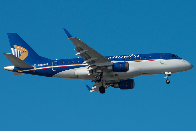 Midwest is now operated with Republic equipment. Seen on final to runway 4R.
