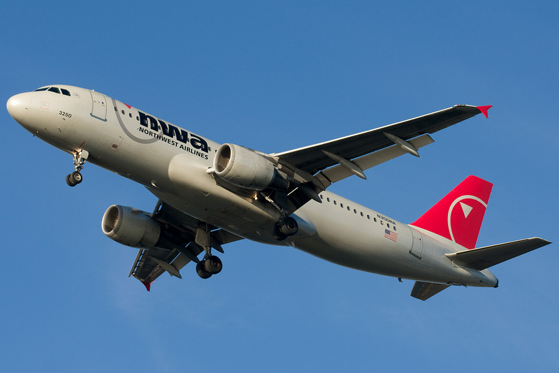 A Northwest Airbus on final for 27.