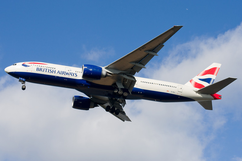 The British Airways 777 is on final for 27.