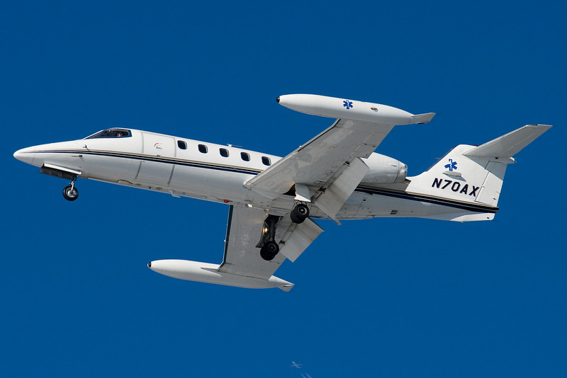 This Learjet is doing Air Ambulance duty.