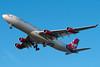 "Virgin Atlantic's ""Diana"" is on final for runway 27."