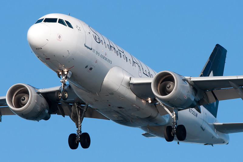 Several US Airways planes wear this special Star Alliance color scheme.
