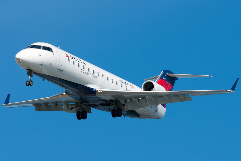 CRJ-200s are a dime a dozen at BOS, and this Delta Connection one is just one of many.