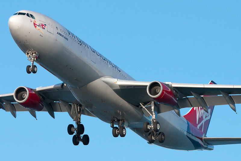 "Virgin Atlantic's ""Diana"" is on final for runway 27."