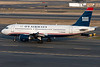 This US Airways A319 is taxiing for departure.