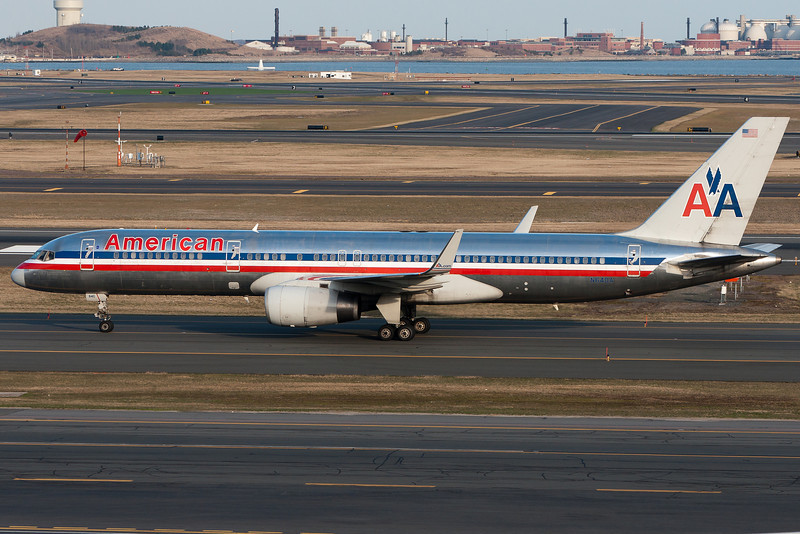 This American 757 is taxiing for departure.