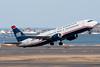 US Airways 737-400 departing runway 22R.
