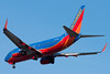 A Southwest 737 on final for runway 04R.