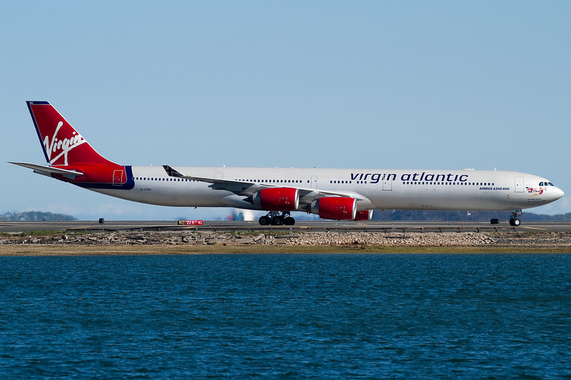 Virgin Atlantic's A340-600 has just arrived from London.