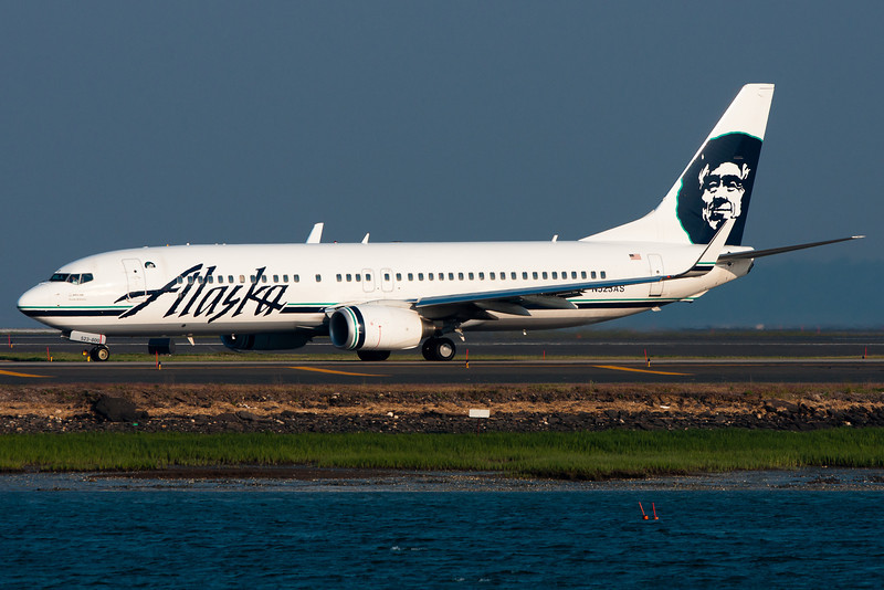 This Alaska Airlines 737-800 heading for departure to SeaTac.