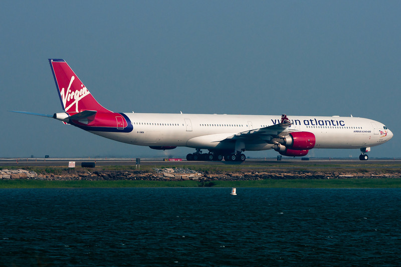Lady Luck, G-VWIN, has just arrived at Boston from London Heathrow.