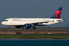 This Delta Airbus is taxiing for departure.