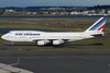 This Air France jumbo is taxiing towards its gate at Terminal E, Boston's international terminal.