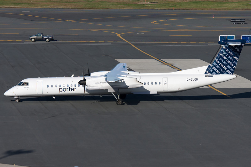 I don't know when Porter, a Canadian carrier, started service to BOS, but their Q400 is seen here pulling up to a terminal E gate.