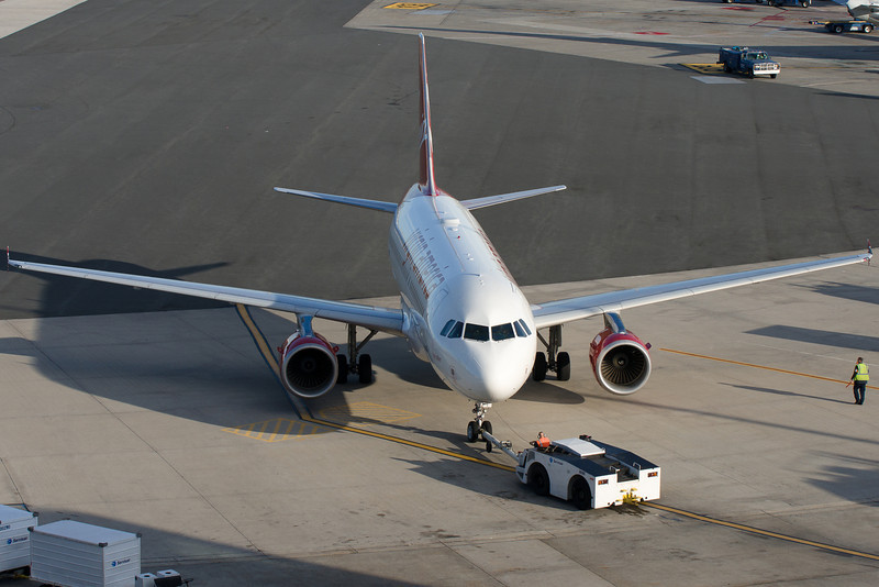 Pushback from the gate for this Virgin America A319.