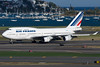Deploying reversers so this big Air France 747 can slow down.