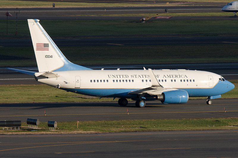 This C-40 Clipper was in BOS on this day carrying Joe Biden. Why he was in BOS, I'm not sure, but I'm sure there's a reason somewhere.