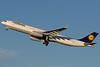 Lufthansa's A330 departs from runway 33L at BOS.