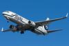 Alaska's 737-800 on final for runway 27 at BOS.