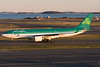Aer Lingus' A330-200 is about the last heavy arrival before the sun sets.