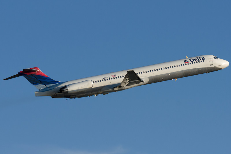Delta's MD-88s are frequent visitors to Boston, and ergo frequent departures too.