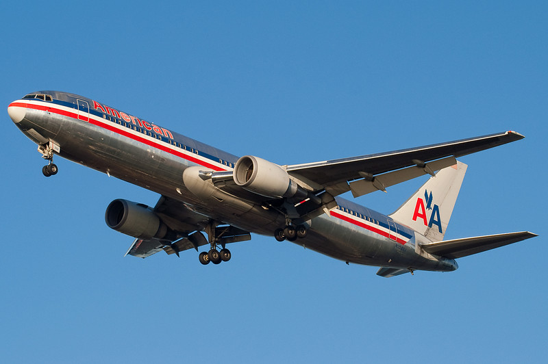 American has seasonal service to Charles de Gualle, at this time it was served with 767s.