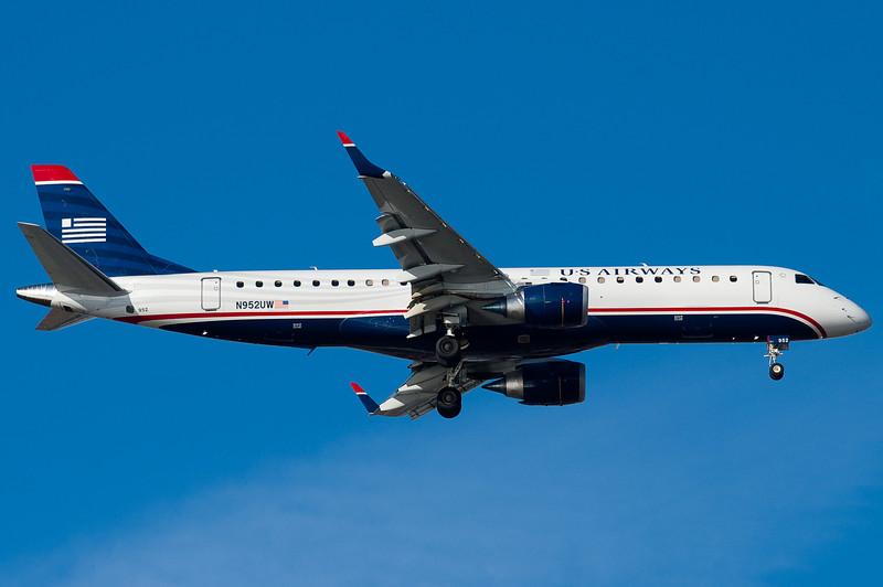 US Airways' E-190s are mainline craft.