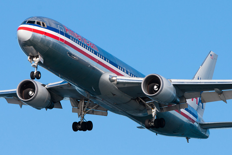 This American 767 is arriving from Los Angeles.