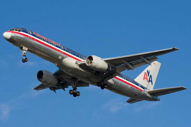 American has many 757s scheduled into BOS.