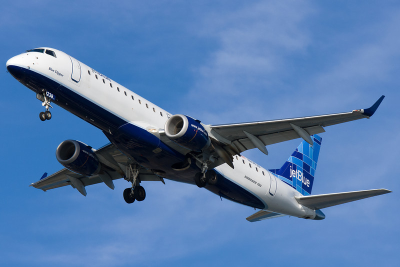 JetBlue's Embraers are frequent visitors to BOS, perhaps outnumbered only by their A320s.