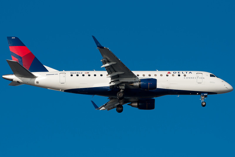 This is a Compass E-175 freshly painted into Delta Connection colors.