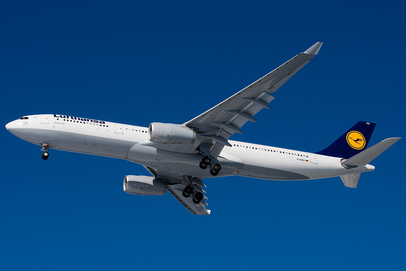 A relatively new A330 for LH on final to 27.