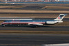 Another American MD-80 heads for its gate.
