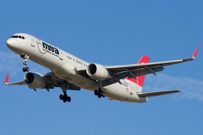 Northwest has a morning flight from Amsterdam on the Boeing 757 with winglets.