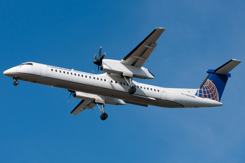 Colgan Q400s operate Continental Connection flights from Newark.
