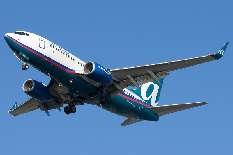 AirTran has both 737 and 717 service to Boston.