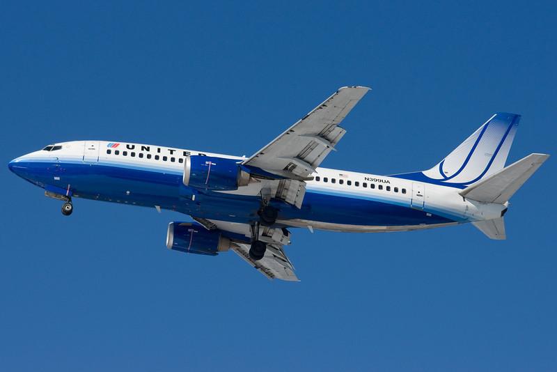 A routine United flight into Boston.
