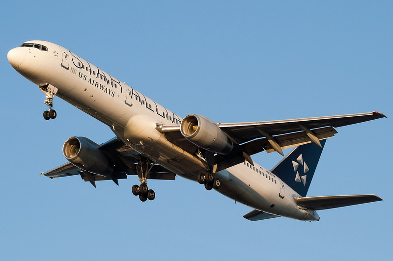 US Airways has a few planes painted in the Star Alliance colors.