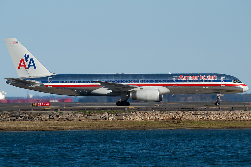American is one of the many 757 operators into Boston.