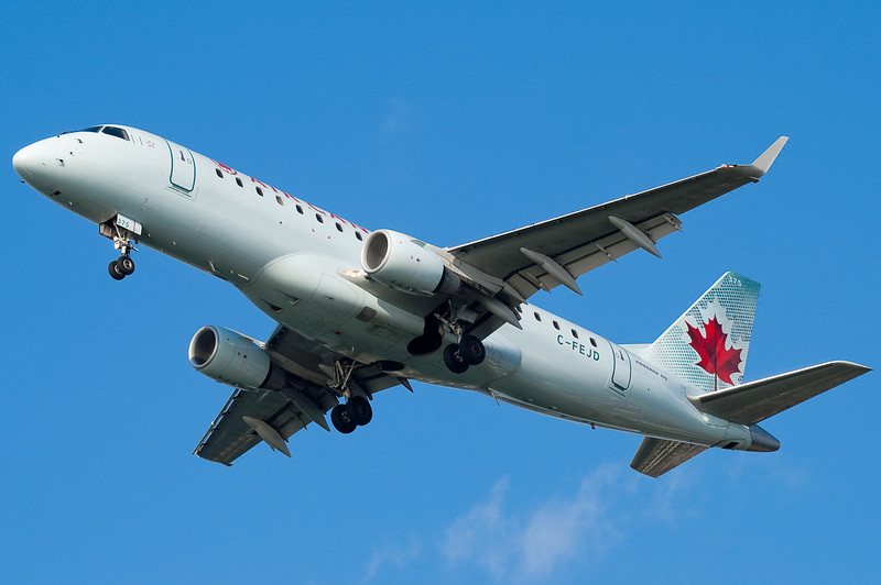 Air Canada's only mainline service to BOS is on E-Jets.
