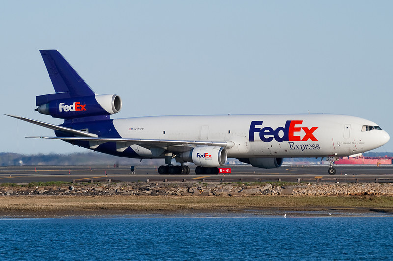 FedEx has DC-10 service from Memphis to Boston.