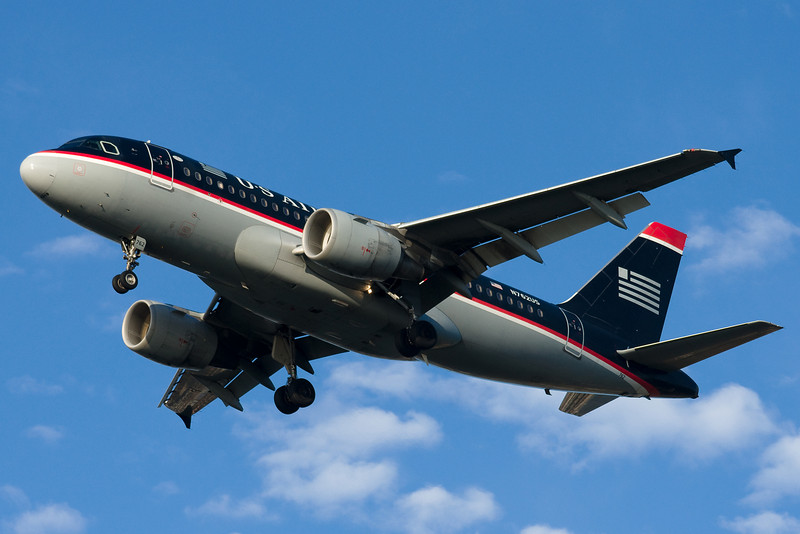 US Airways A319s are a dime a dozen at Boston.