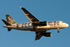 A Frontier A319 on final for runway 27.