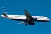 BetaBlue, jetBlue's special A320 with in flight internet, is on final for 4R.