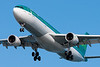 "Aer Lingus A330, ""St. Ronan,"" on final for runway 27."