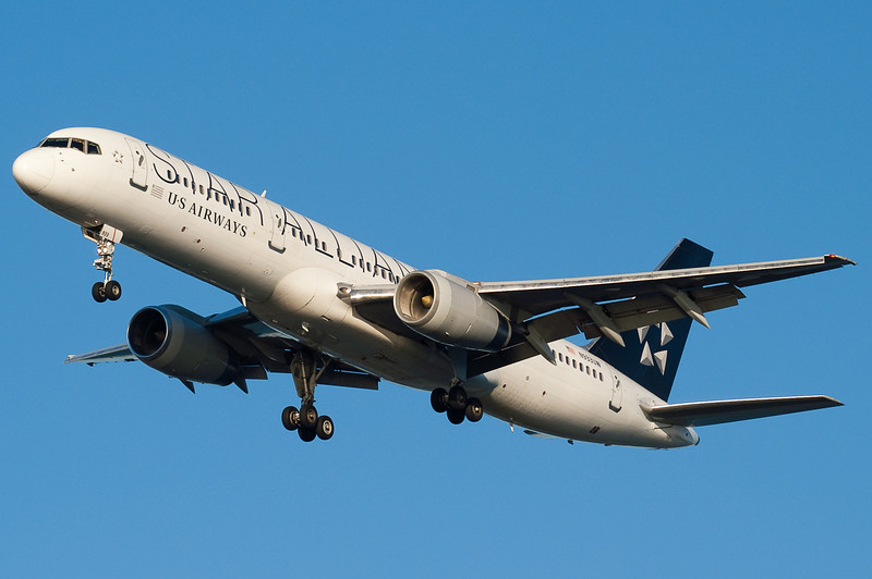 This US Airways 757 has the Star Alliance scheme.