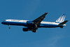 A United 757 in new colors on final for runway 04R.