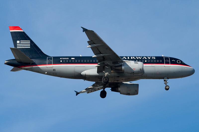 Another US Airways A319 on final for Boston.
