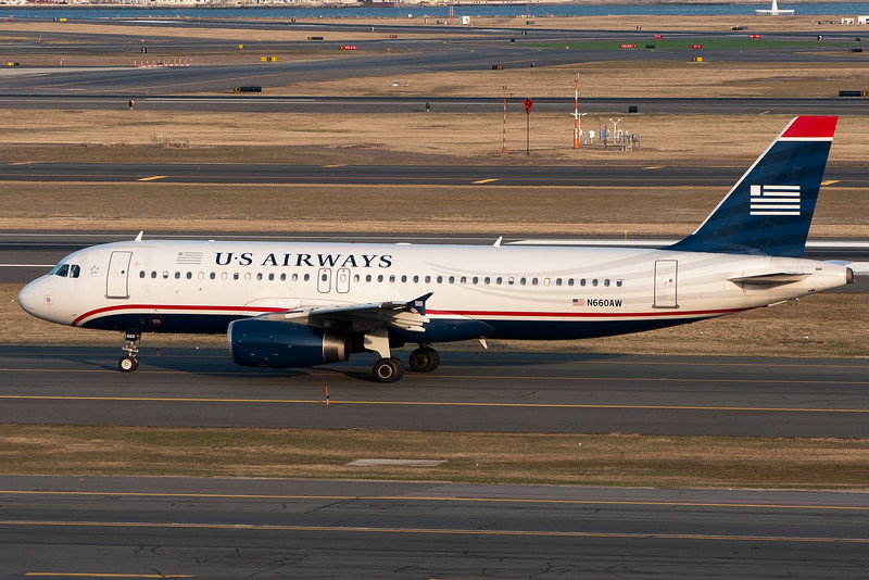 This US Airways A320 is also heading for departure.