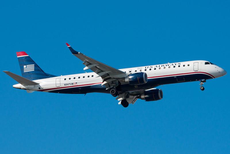 US Airways' E-190s are part of their mainline fleet.